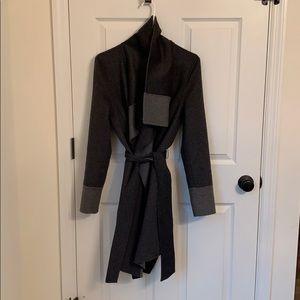 Diane Von Furstenberg wrap reversible coat